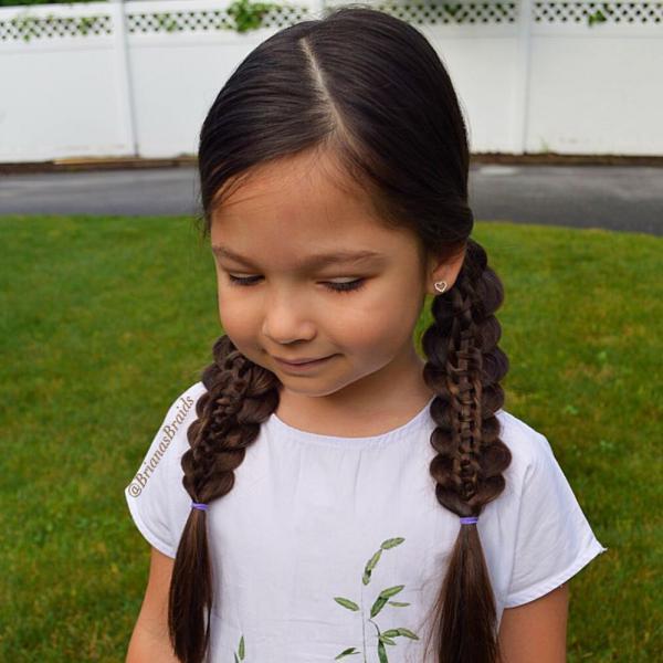 بافت موی بچه گانه دخترانه 2019
