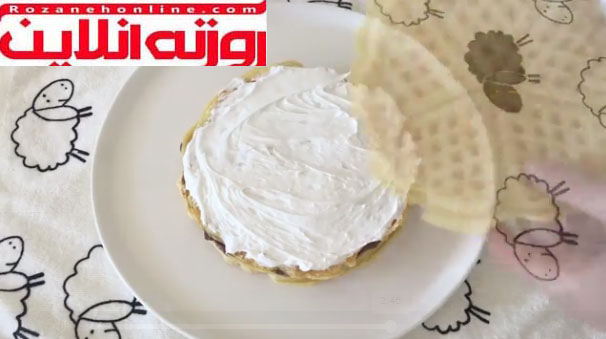 صفر تا صد تهیه کیک وافل با استفاده از کرم شانتی