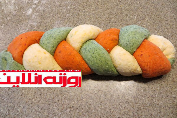 طرز تهیه نان اک مک سه رنگ ترکیه