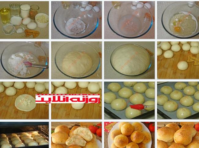 این مدلی نان درست کنید : نان صبحانه بدون استفاده از ماست و شیر