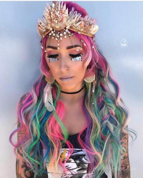 مدل رنگ موی فانتزی شیک دخترانه