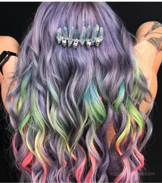 انواع رنگ موی فانتزی 98 زنانه متفاوت برای سلیقه های مختلف